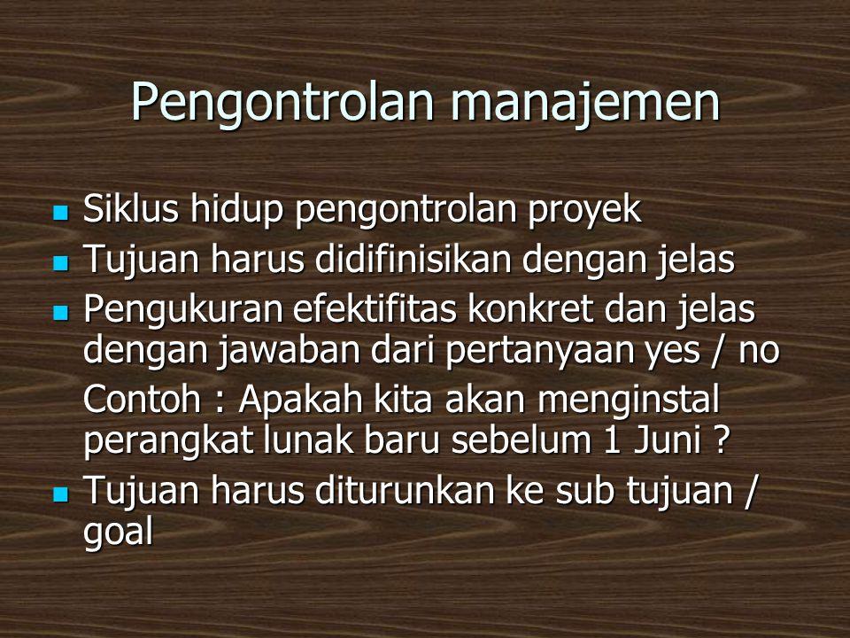 Pengontrolan manajemen