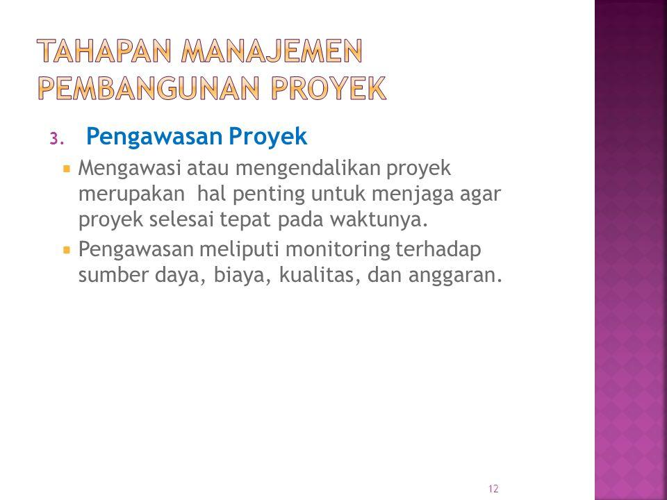 Tahapan Manajemen Pembangunan Proyek