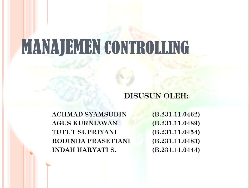 MANAJEMEN controlling