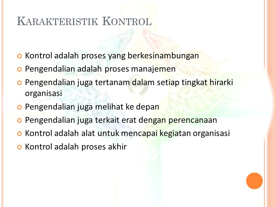 Karakteristik Kontrol