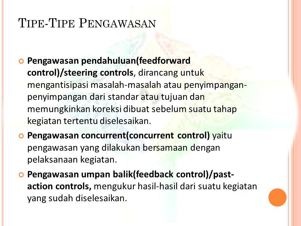 Tipe-Tipe Pengawasan
