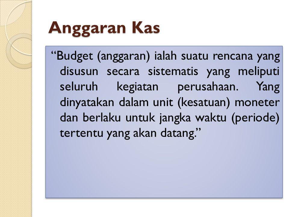 Anggaran Kas