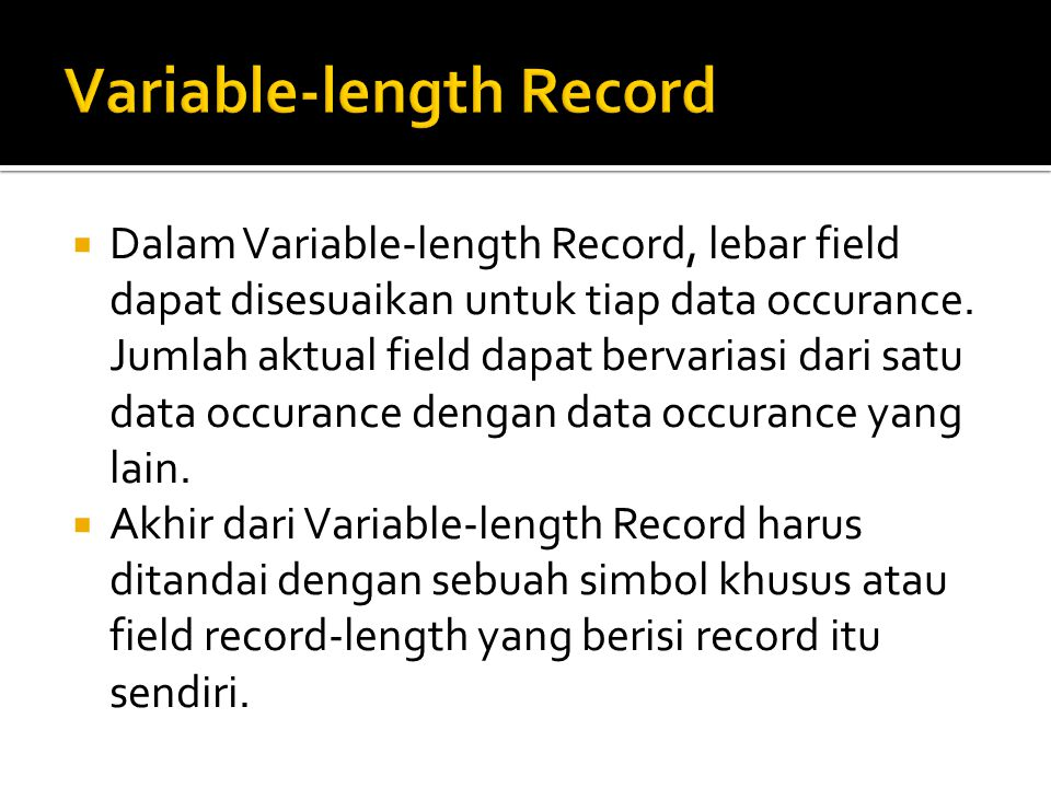 Variable-length Record