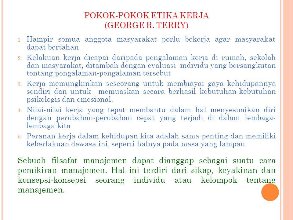 POKOK-POKOK ETIKA KERJA (GEORGE R. TERRY)