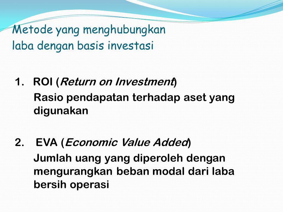 Metode yang menghubungkan laba dengan basis investasi