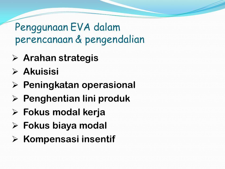 Penggunaan EVA dalam perencanaan & pengendalian