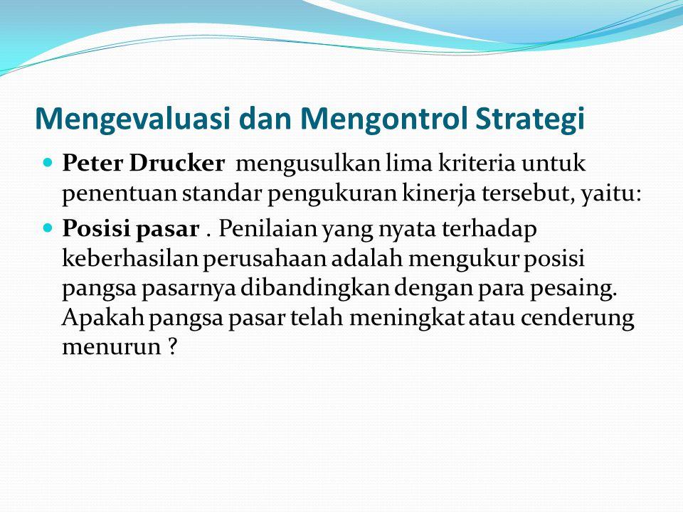 Mengevaluasi dan Mengontrol Strategi