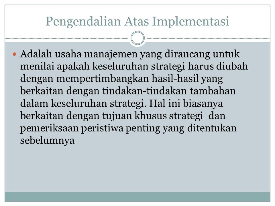 Pengendalian Atas Implementasi