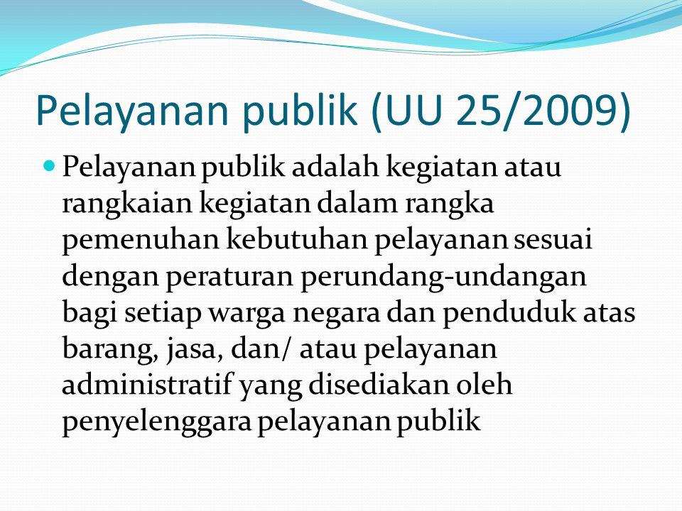 Pelayanan publik (UU 25/2009)