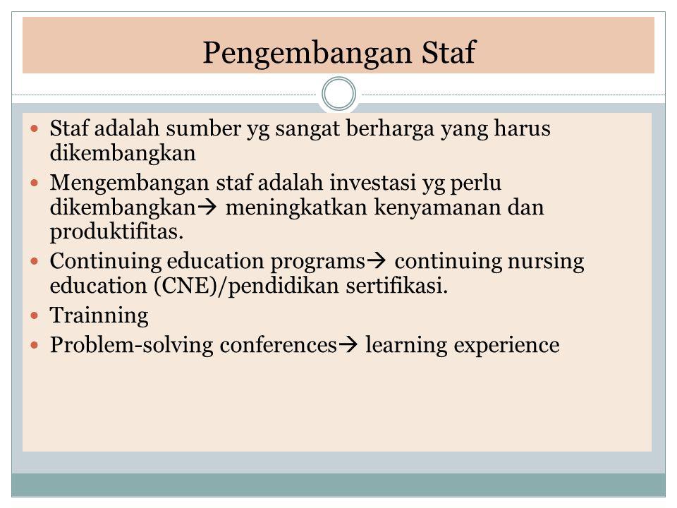 Pengembangan Staf Staf adalah sumber yg sangat berharga yang harus dikembangkan.