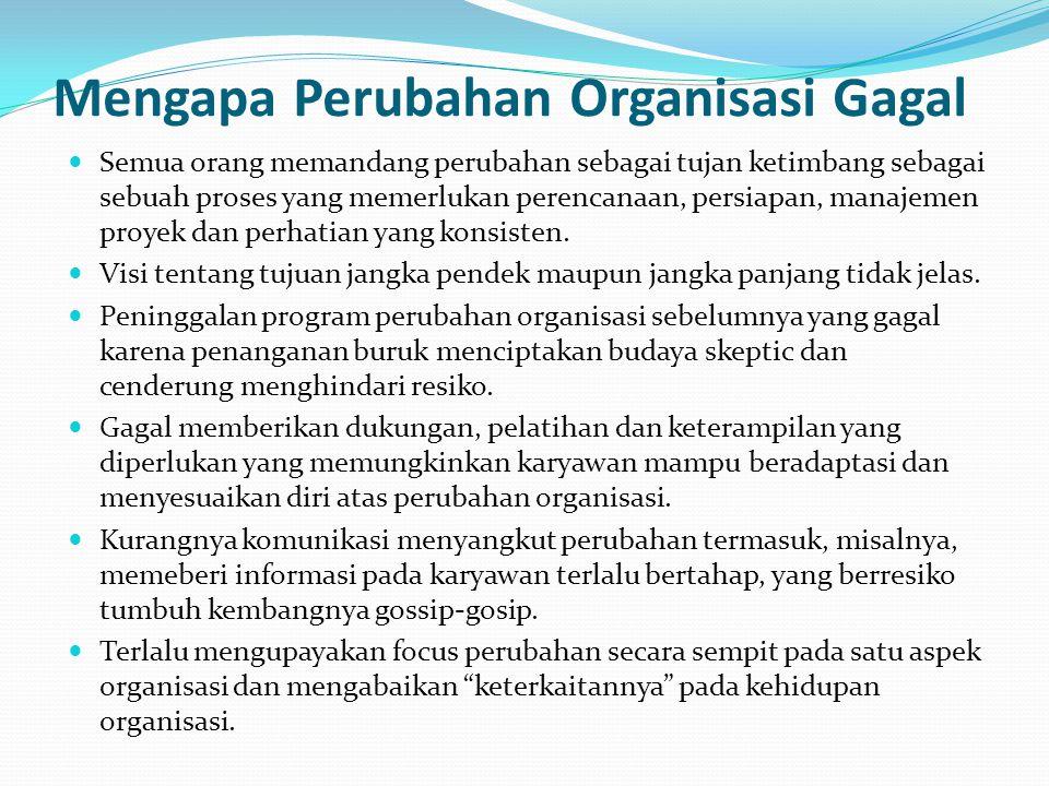 Mengapa Perubahan Organisasi Gagal