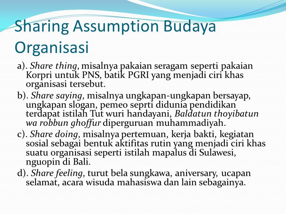 Sharing Assumption Budaya Organisasi