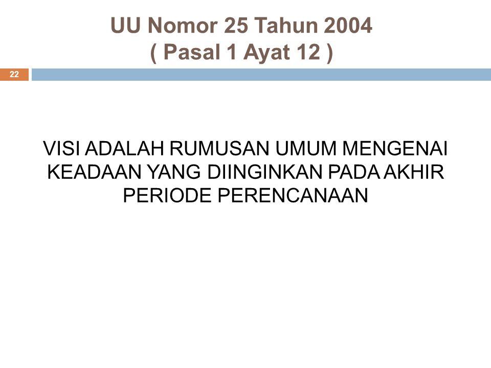 UU Nomor 25 Tahun 2004 ( Pasal 1 Ayat 12 )