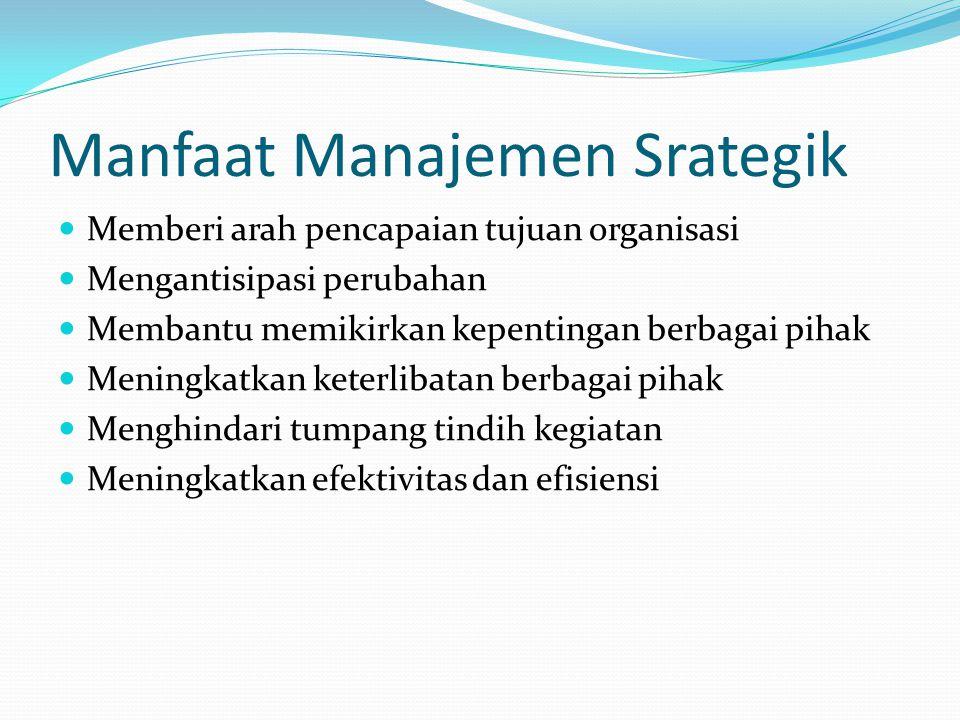 Manfaat Manajemen Srategik