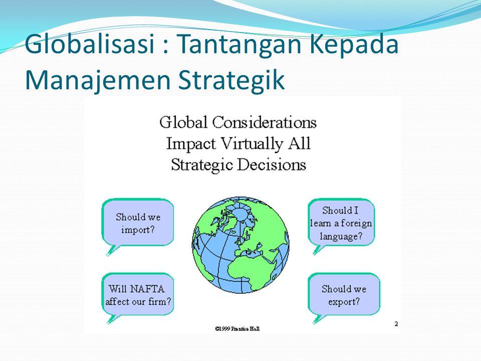 Globalisasi : Tantangan Kepada Manajemen Strategik