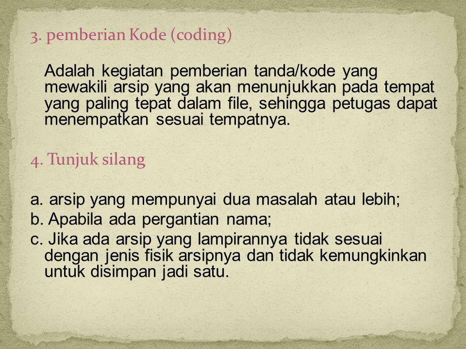 3. pemberian Kode (coding)