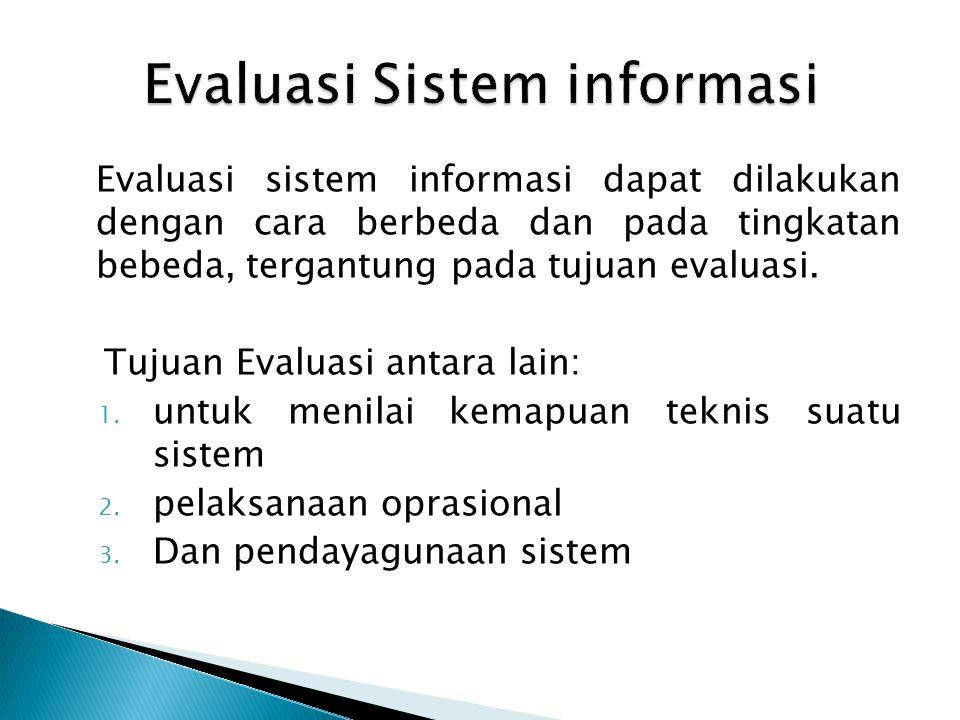 Evaluasi Sistem informasi