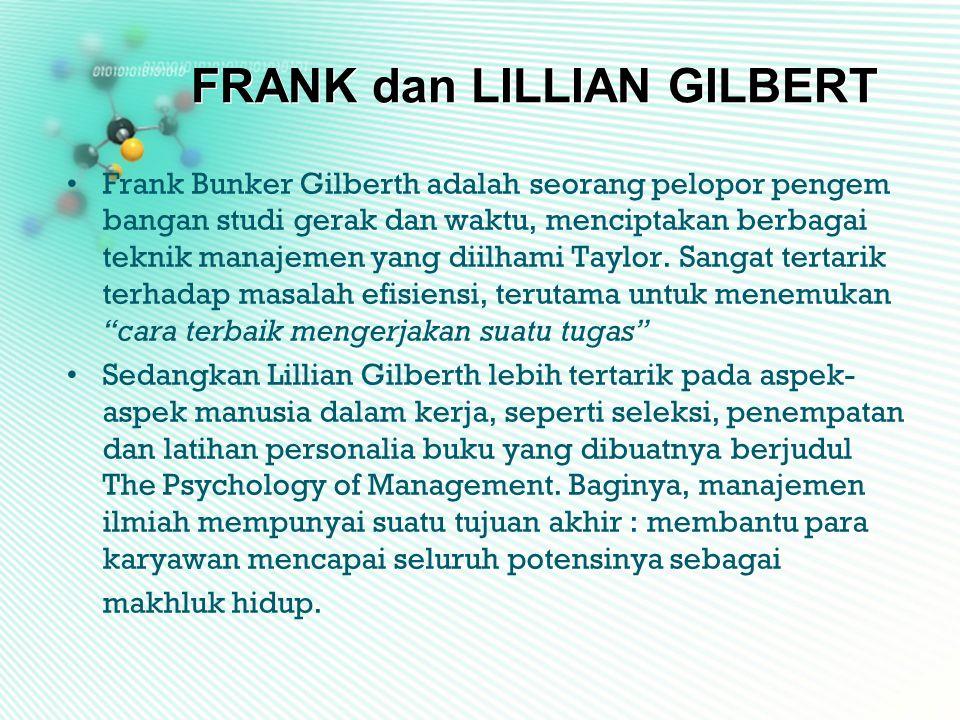 FRANK dan LILLIAN GILBERT