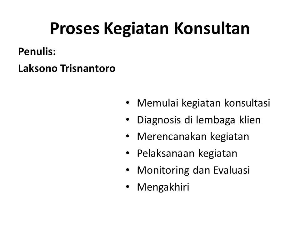 Proses Kegiatan Konsultan
