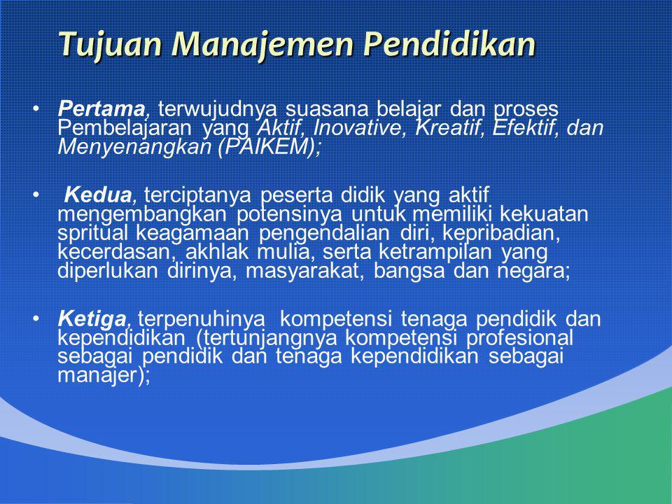 Tujuan Manajemen Pendidikan