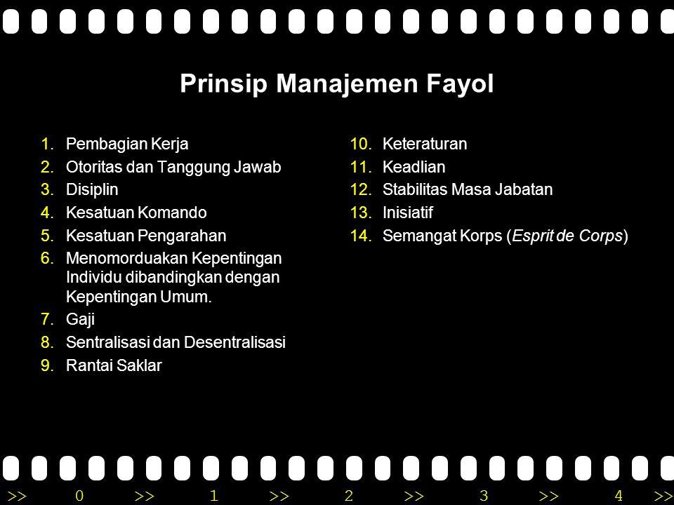Prinsip Manajemen Fayol