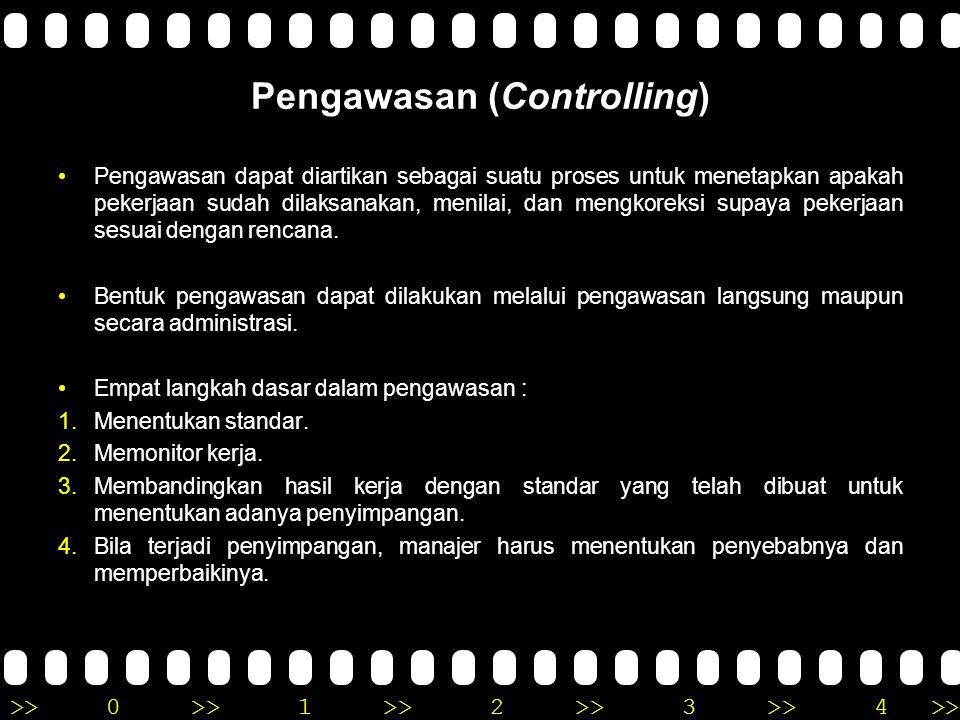 Pengawasan (Controlling)