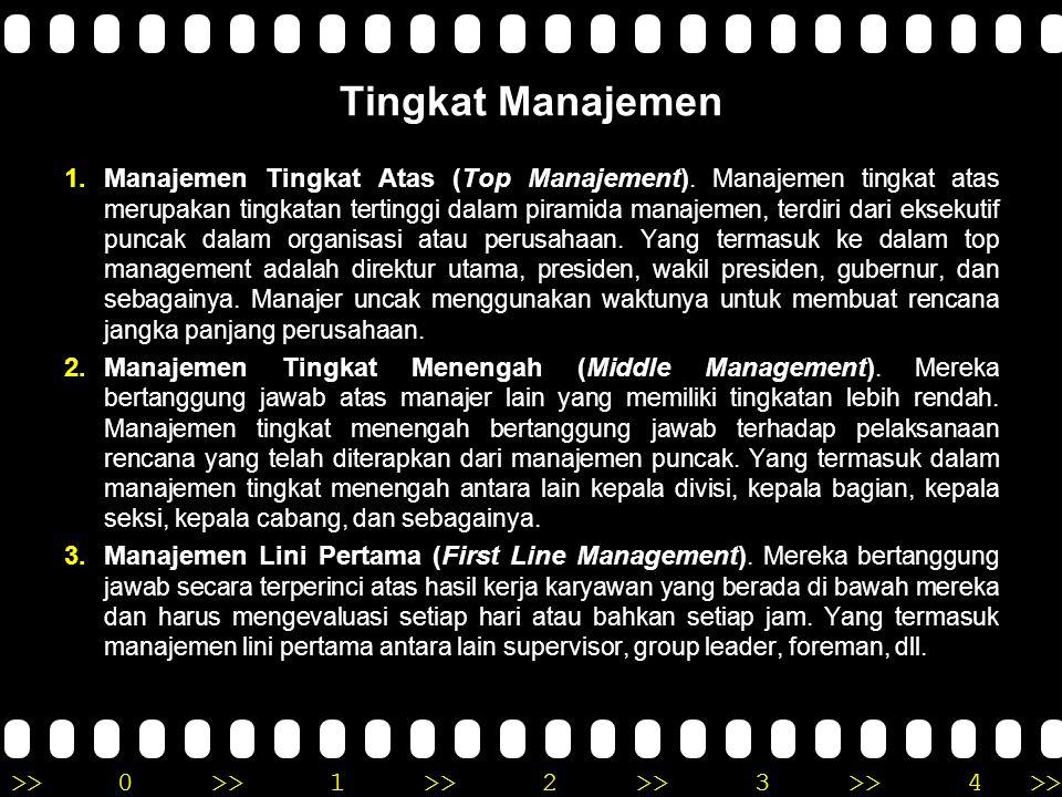 Tingkat Manajemen
