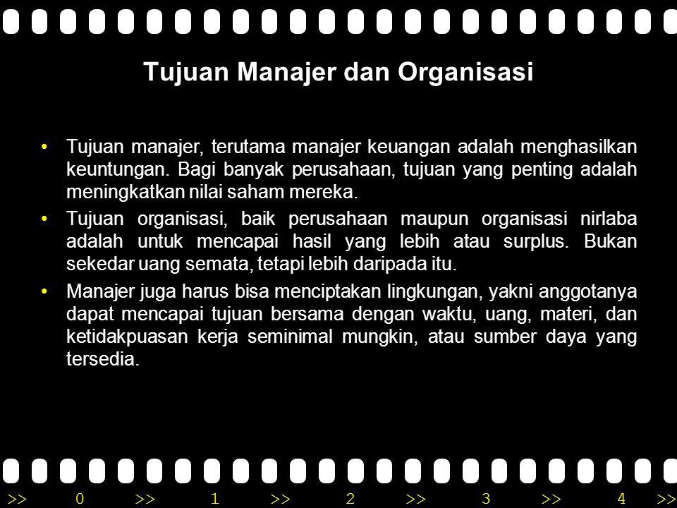 Tujuan Manajer dan Organisasi
