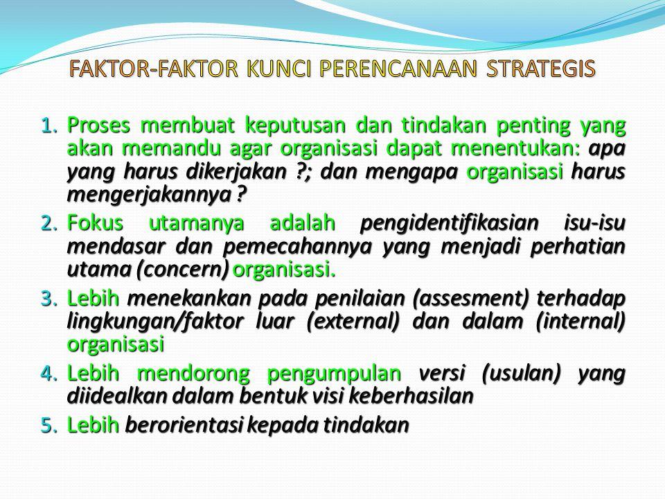 FAKTOR-FAKTOR KUNCI PERENCANAAN STRATEGIS