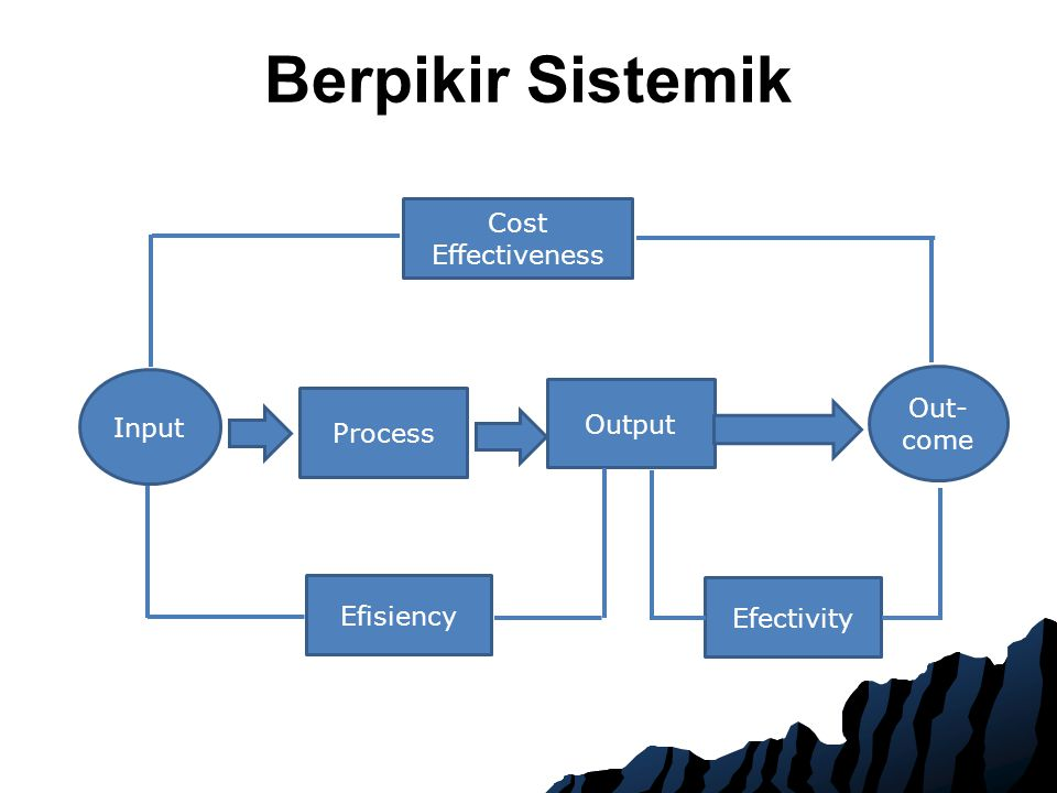 Berpikir Sistemik Cost Effectiveness Out-come Input Output Process
