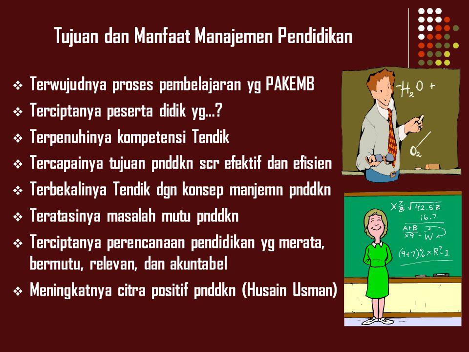 Tujuan dan Manfaat Manajemen Pendidikan