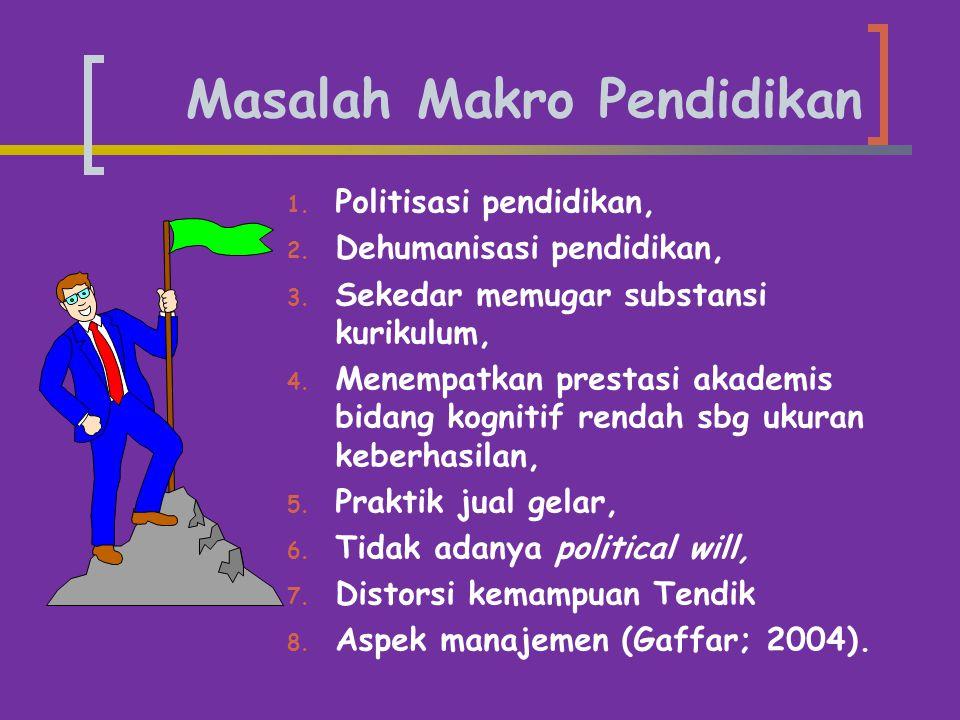 Masalah Makro Pendidikan