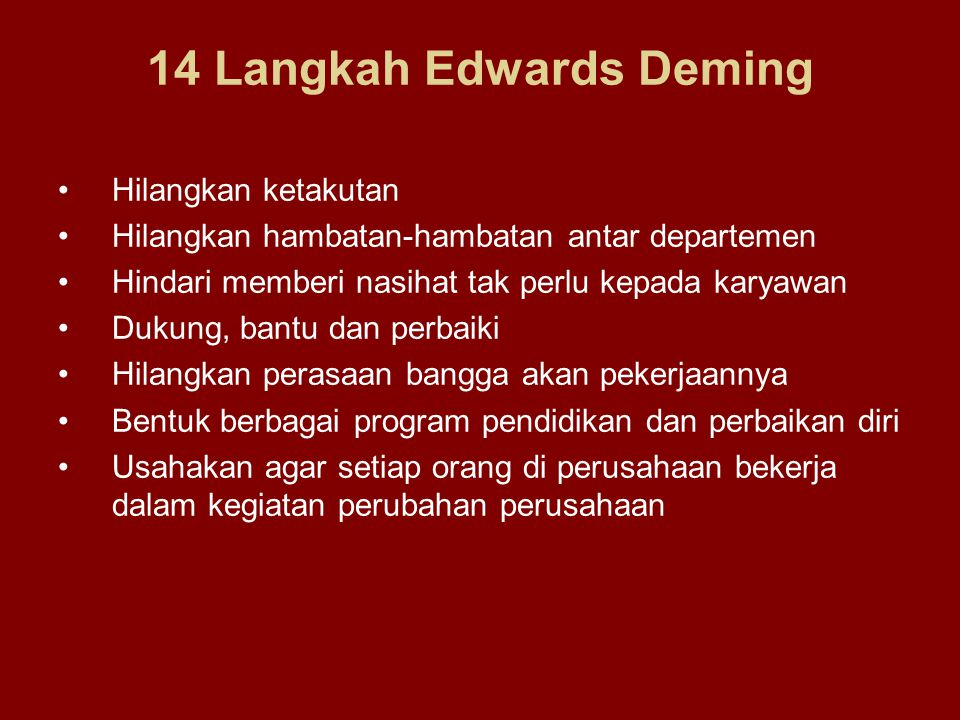 14 Langkah Edwards Deming