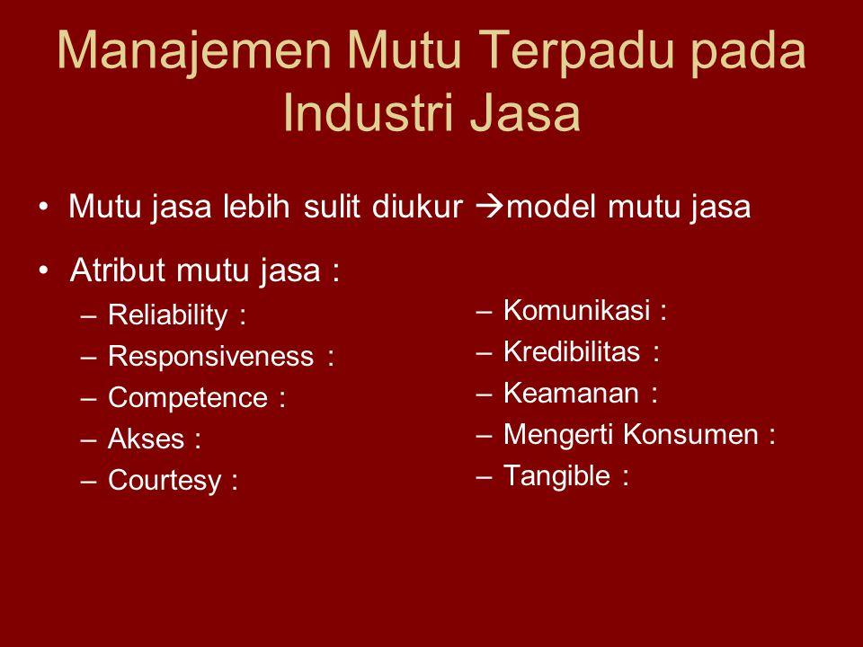 Manajemen Mutu Terpadu pada Industri Jasa