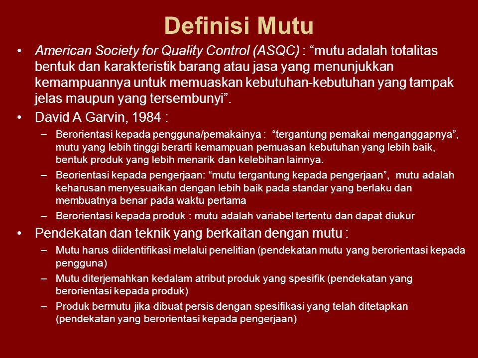 Definisi Mutu
