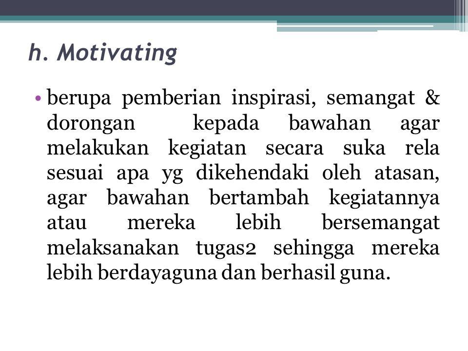 h. Motivating