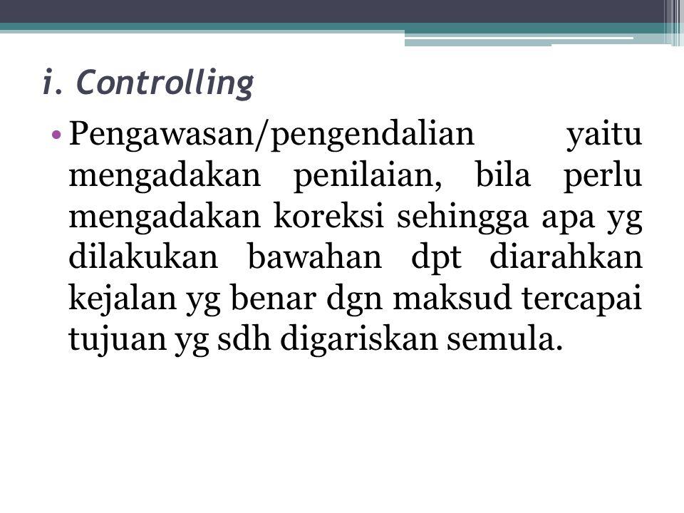 i. Controlling