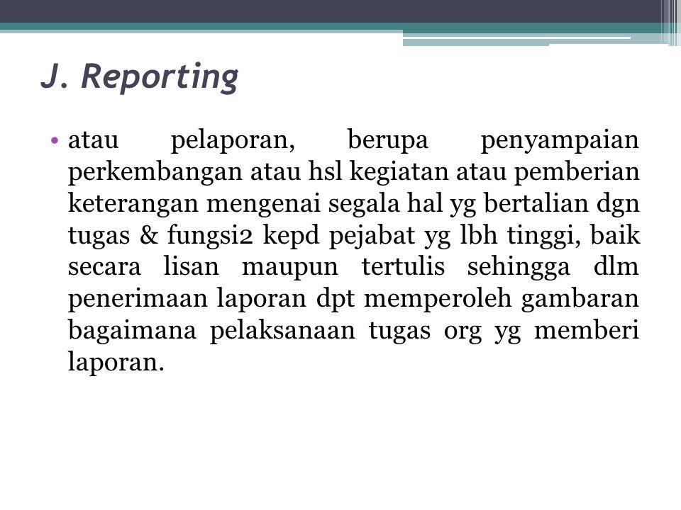 J. Reporting