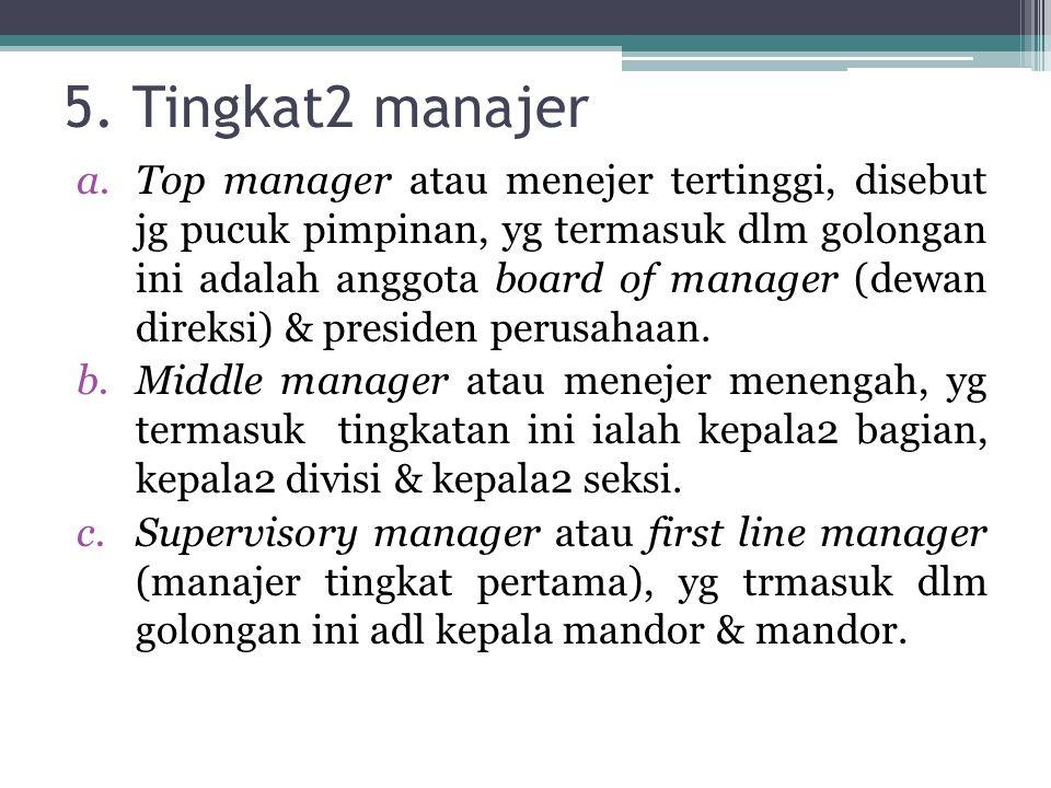 5. Tingkat2 manajer