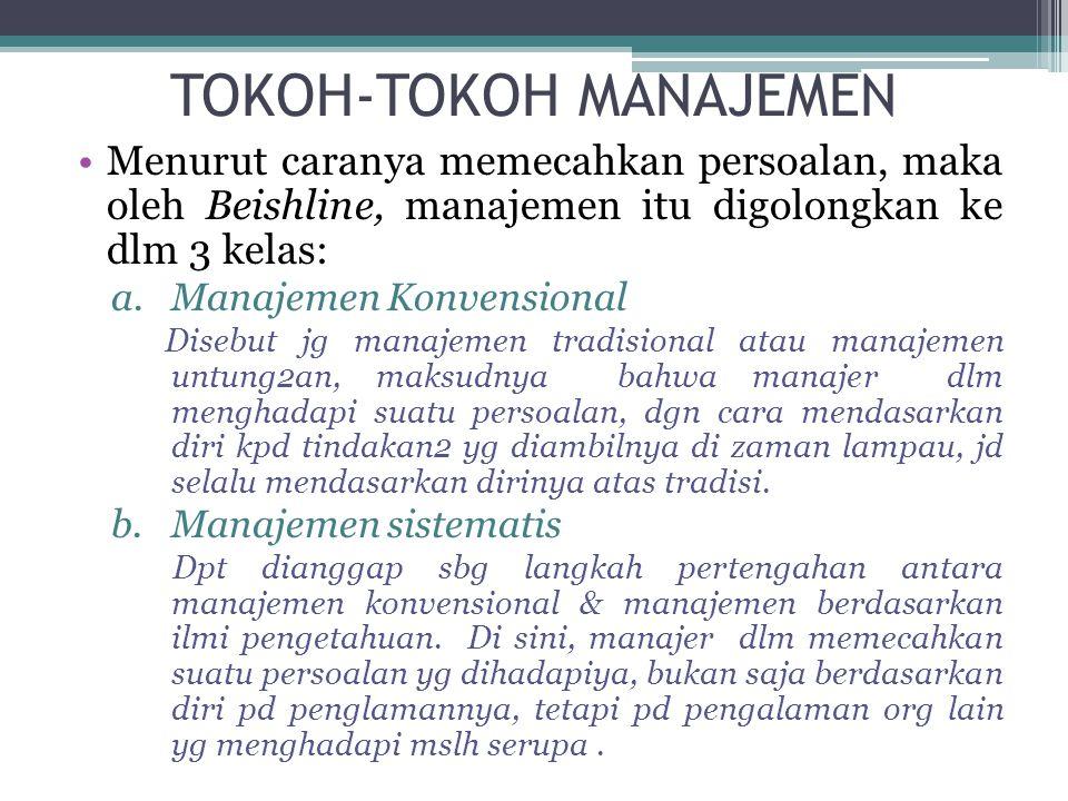 TOKOH-TOKOH MANAJEMEN