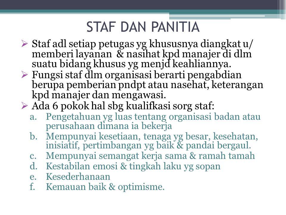 STAF DAN PANITIA
