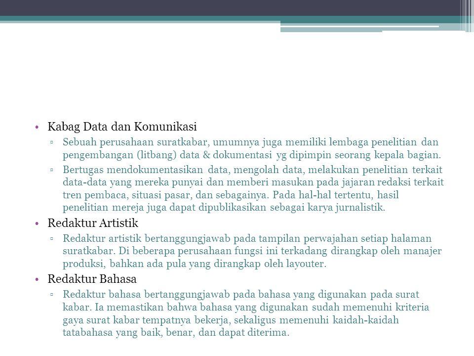 Kabag Data dan Komunikasi