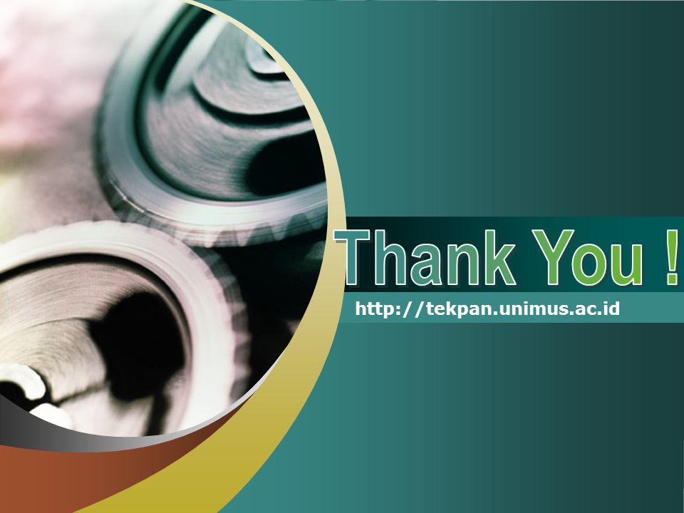 Thank You ! http://tekpan.unimus.ac.id