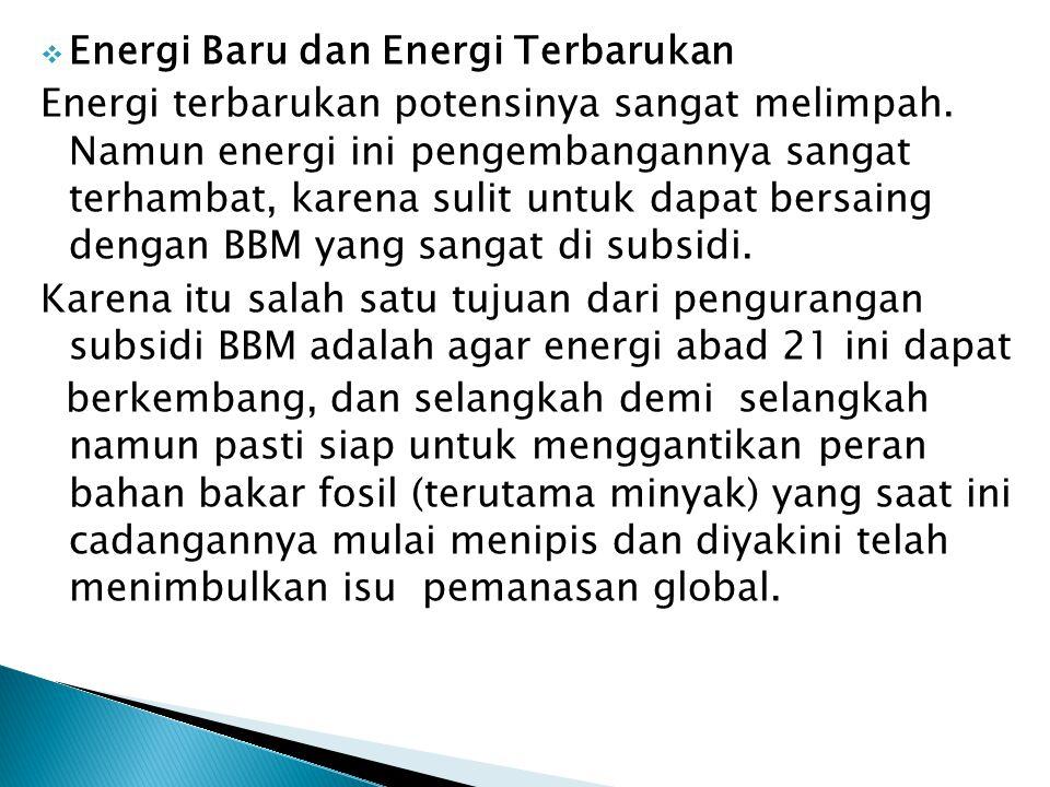 Energi Baru dan Energi Terbarukan