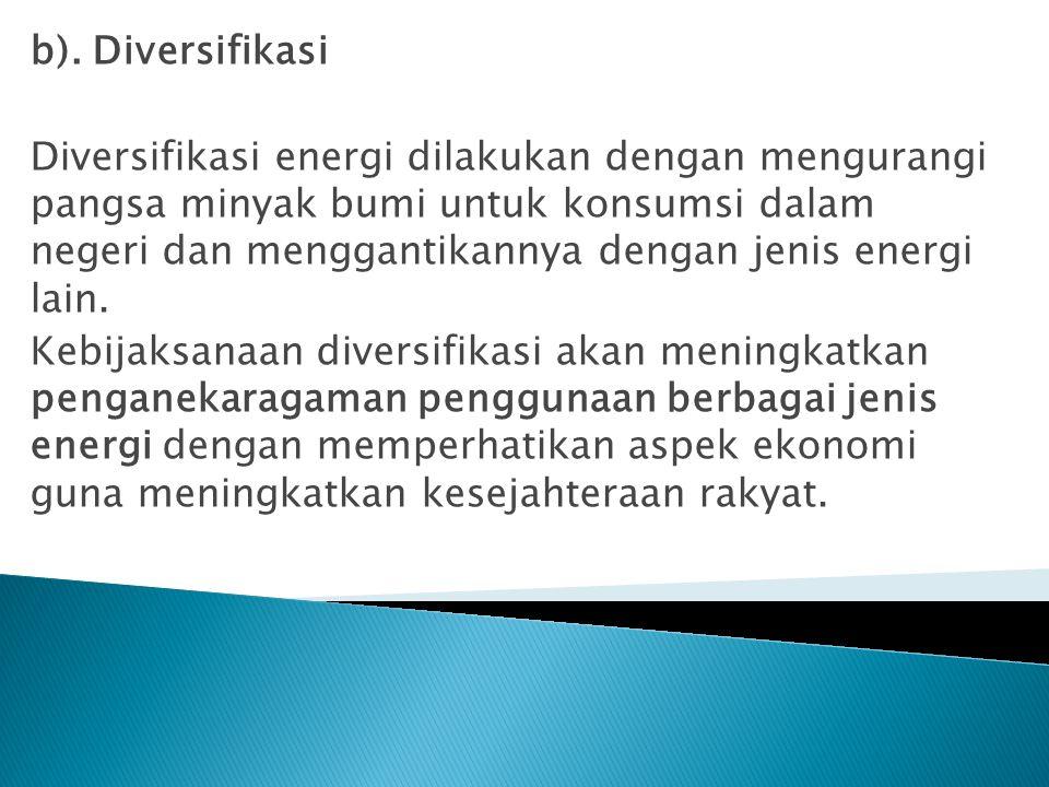b). Diversifikasi