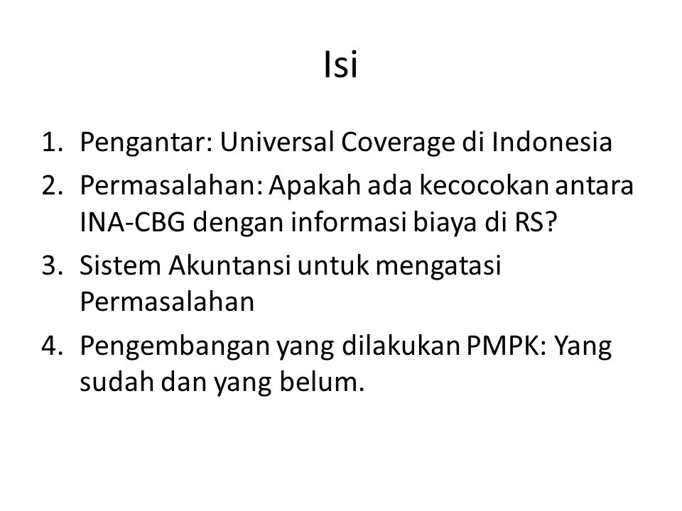 Isi Pengantar: Universal Coverage di Indonesia