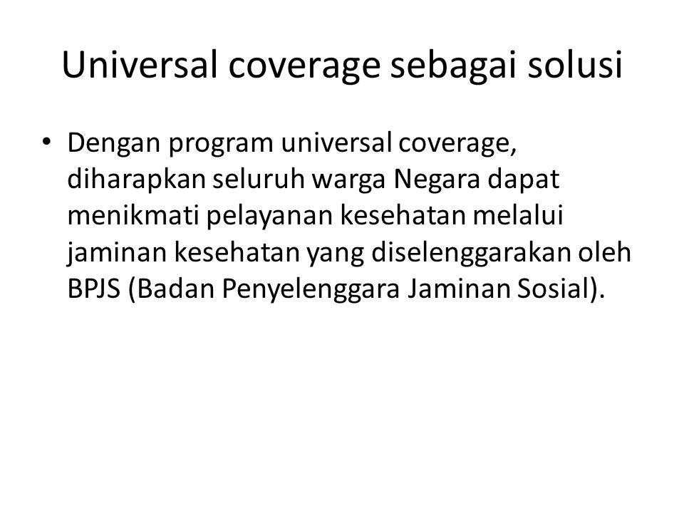Universal coverage sebagai solusi