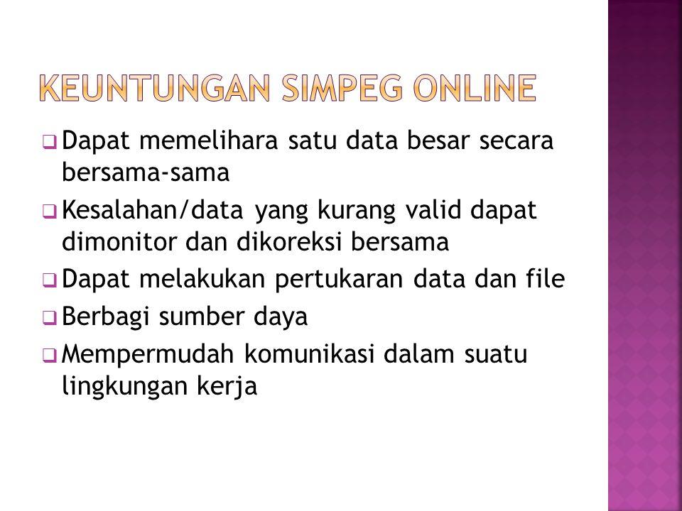 Keuntungan SIMPEG Online