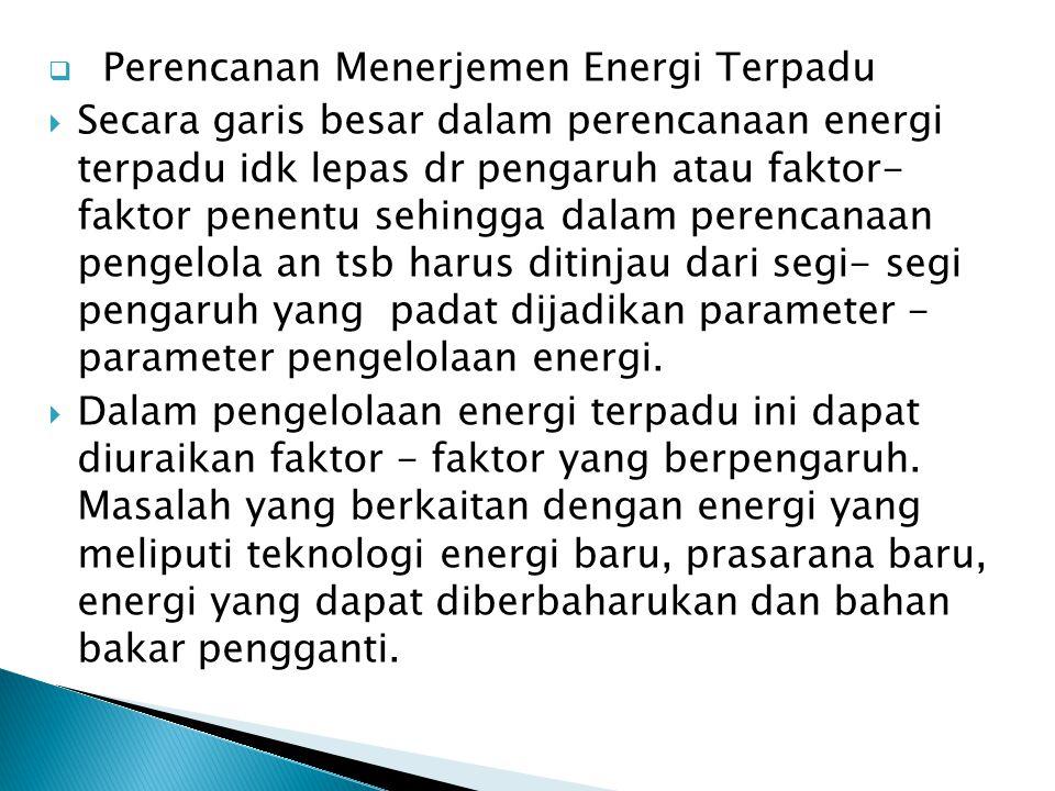 Perencanan Menerjemen Energi Terpadu