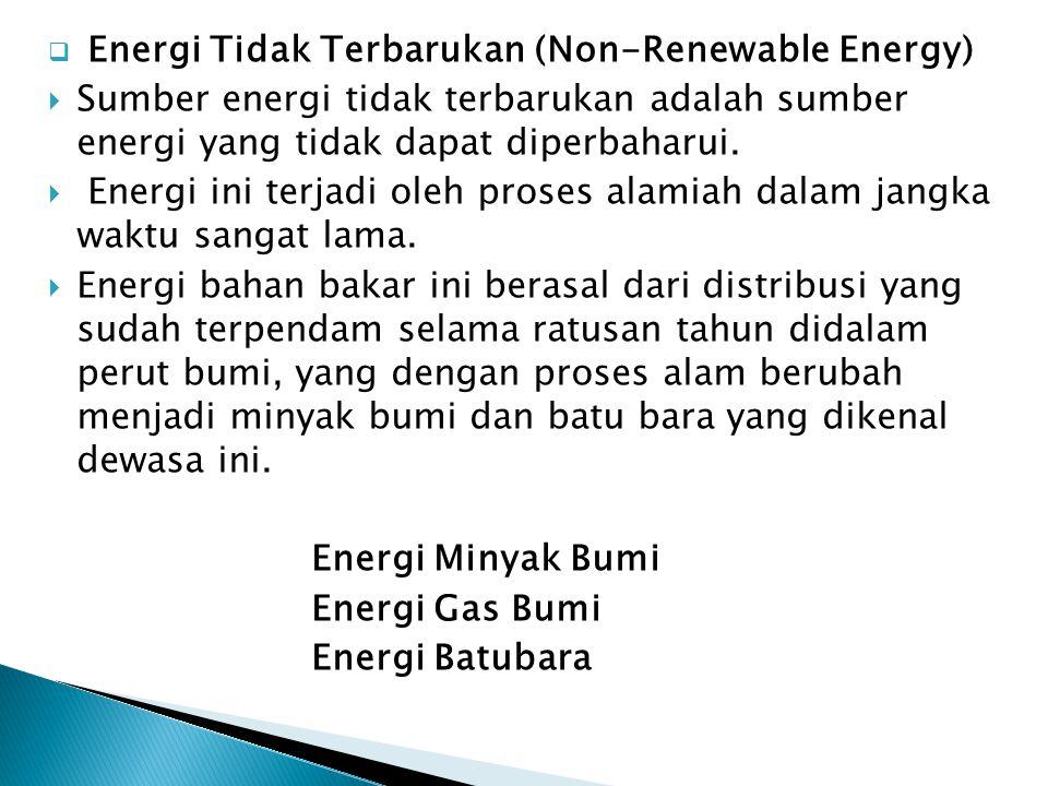 Energi Tidak Terbarukan (Non-Renewable Energy)